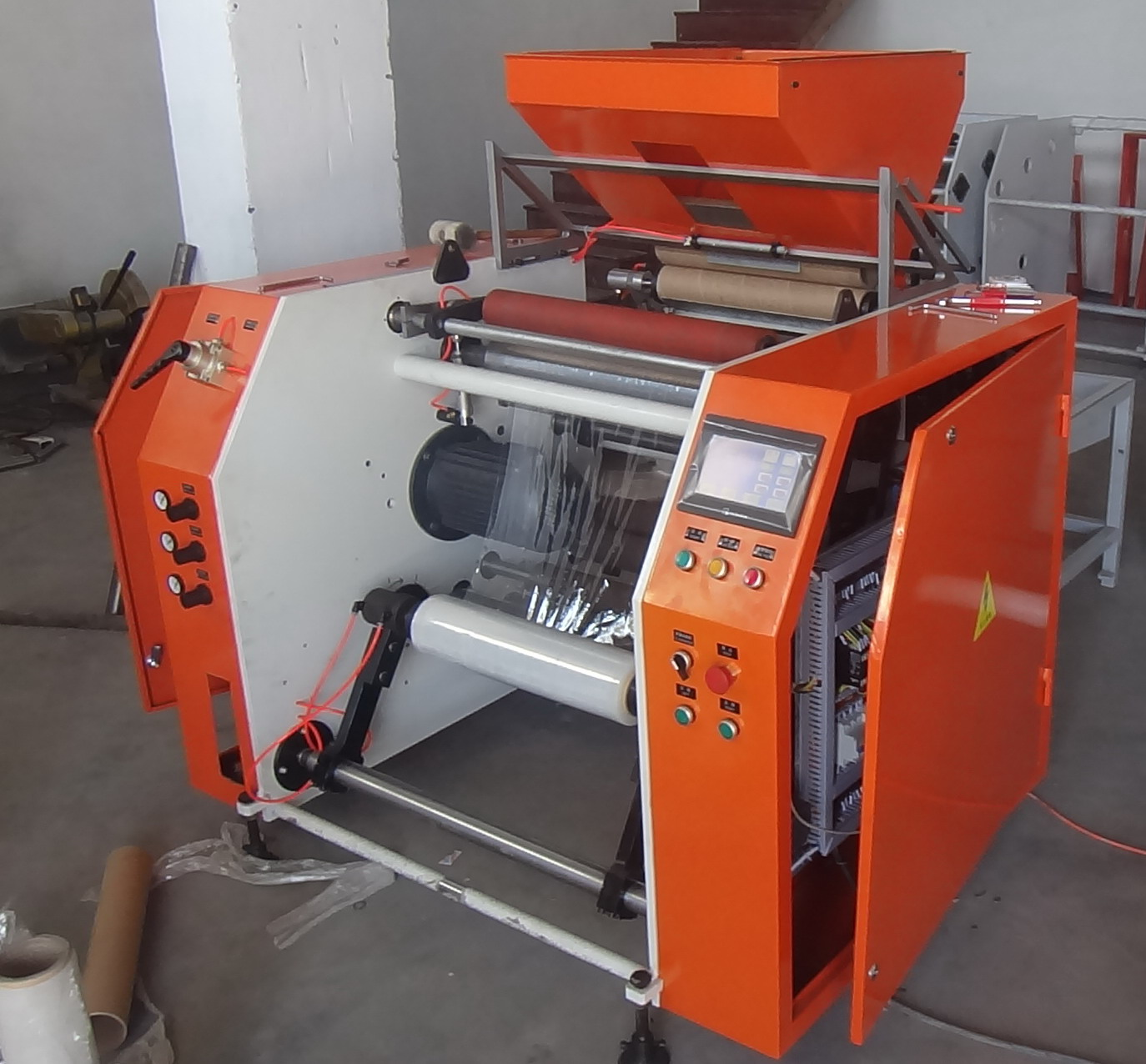 Automatic Stretch Film Rewinding Machine