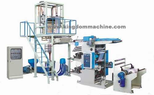 blown film machine connect flexo printing machine