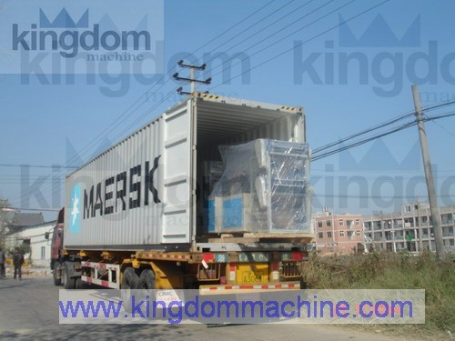 bag making machine in container for shipment